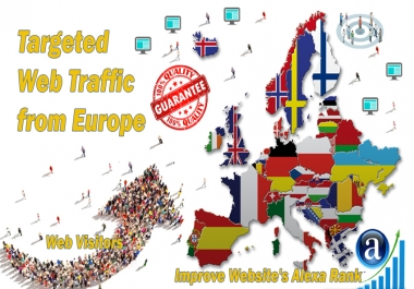 Send 25.000 Europe web visitors real targeted geo traffic