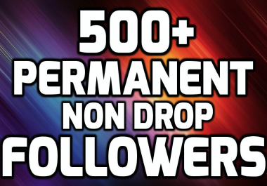 Add 500+ High Quality Fast Profile Followers PERMANENT to Your Account