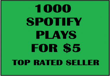 1000 REAL AND PROMOTIONAL FAST SP0TIFY PLAYS