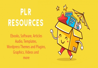 give you thousands of PLR Articles, Ebooks, Videos, Audios, Softwares and More