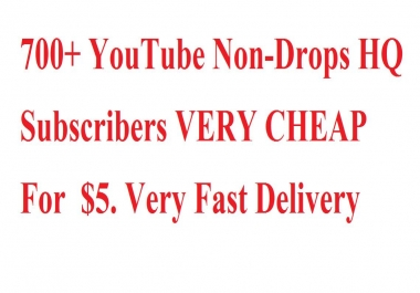 701+ Non-Drops permanent YouTube  Subscribers VERY CHEAP PRICES