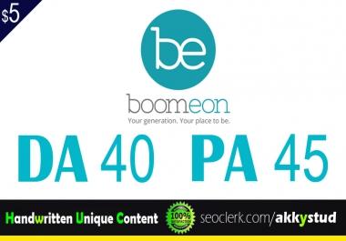 """write and publish unique guest post on """"Boomeon"""" DA-75"""