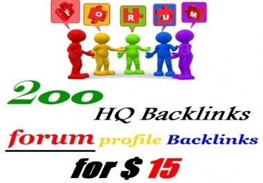 Provide you 200 Forum Post backlinks
