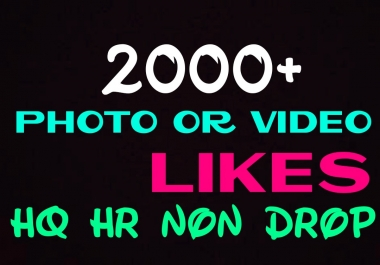 Provide 2000+ HQ,Non Drop Social Post or Photo Promotion Instantly