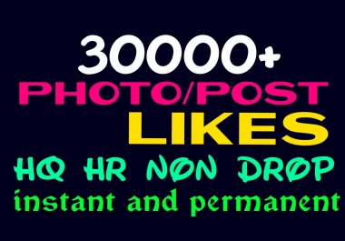 Provide 30000+ HQ,Non Drop Social Post or Photo Promotion Instantly