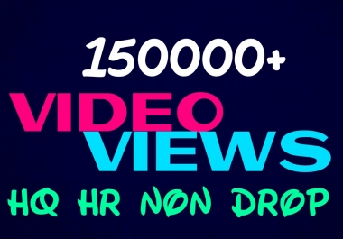 Deliver 150000+HQ, Non Drop video visitors instantly