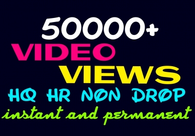 Deliver 50000+ HQ, Non Drop video visitors instantly