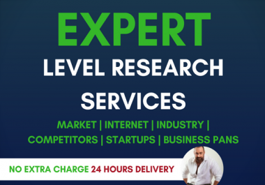 produce a comprehensive market research and competitor analysis report