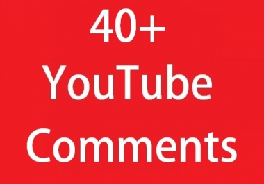 Instant 40 YouTube Custom Comments On your video fast add