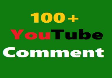 Add Guaranteed 100+ Real You'Tube Custom Coments Non Drop Supper Fast  Just
