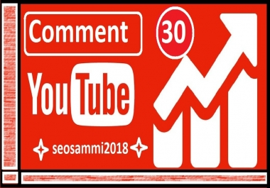 Provide You 30 YouTube Custom  Comment For Promotion Fast
