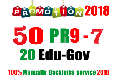 50 PR9 DA 80-100 + 20 EDU - GOV Highpr SEO Authority Backlinks To Fire Your Google Ranking