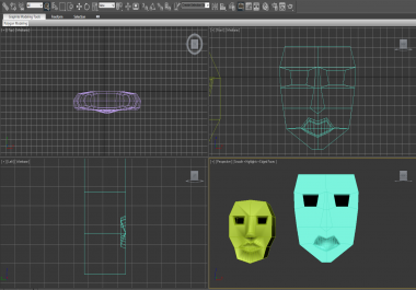 I can make 3D and 2D rendering models in Autodesk 3D max.