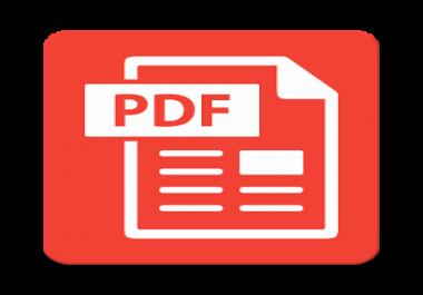 PDF Conversion to an editable File