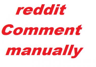 5+ reddit custom comment very fast delivered