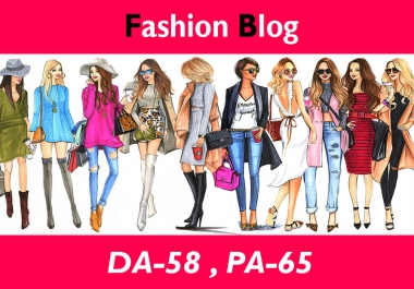 "Create High Authority ""FASHION"" Niche Blogs DA-50"