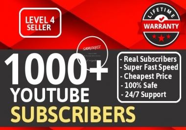 Add Real 1000+ YouTube Subscribers NON DROP LIFETIME GUARANTEE With Extra Bonus