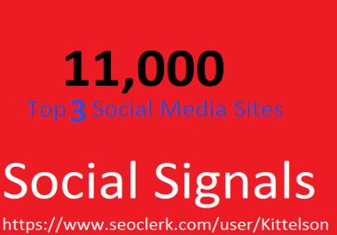 11,000 Social Signals Come From Top 3 Social Media Sites