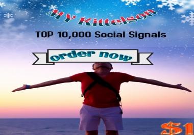 10,000 Social Signals Come From Top 3 Social Media Sites
