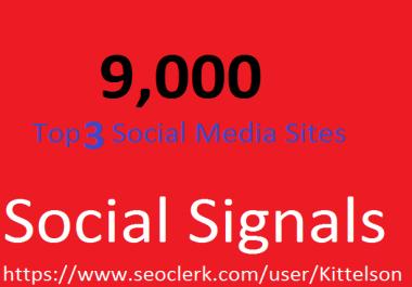 9,000 Social Signals Come From Top 3 Social Media Sites