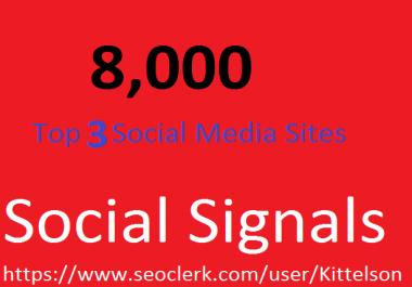 8,000 Social Signals Come From Top 3 Social Media Sites