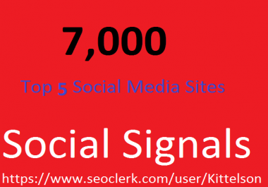 7,000 Social Signals Come From Top 3 Social Media Sites