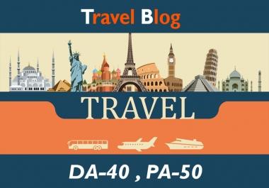 "Create High Authority ""TRAVEL"" Niche Blogs DA-40"