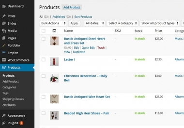 Add 200 Products To Wordpress