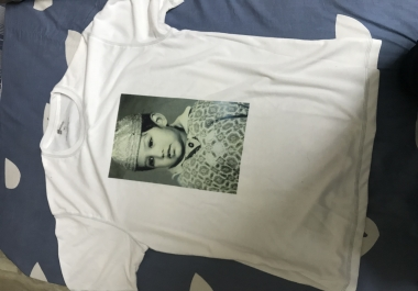 Provide T-shirt/ Cup designs of your photo.   Whatsapp at  +91 9619388680