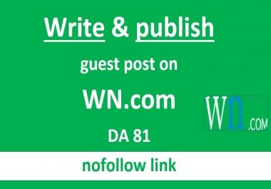 Write and publish guest post on wn.com DA81 PA83