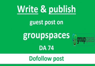 Write and publish guest post on groupspaces DA74