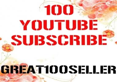 100 Y0U TUBE Subscriber Nondrop Refill Garente