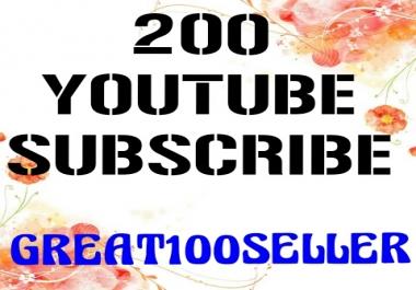 200 Y0U TUBE Subscriber Nondrop Refill Garente