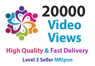 Get Instant 20000 High Quality Social Video Views