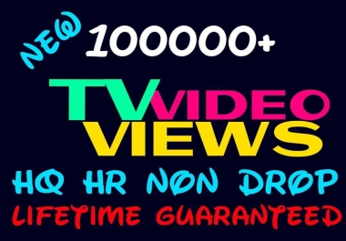 Add 100000+ HQ HR Non Drop social videos Promotion Instantly
