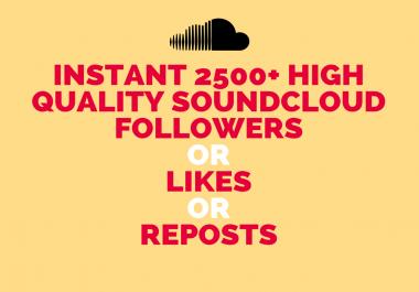 Instant 2500+ High Quality Soundcloud Promotion