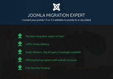 Update your joomla website from old version to joomla latest