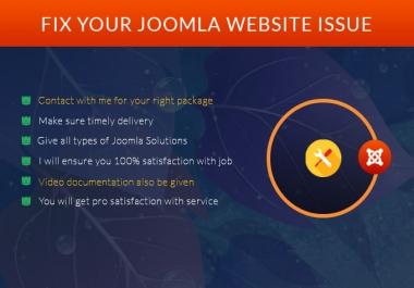 fix your joomla website issue