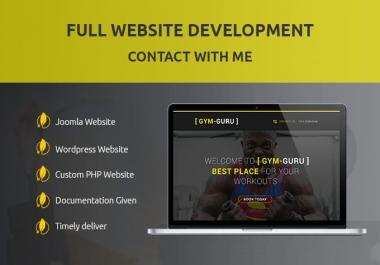 Develop a website with joomla or wordpress