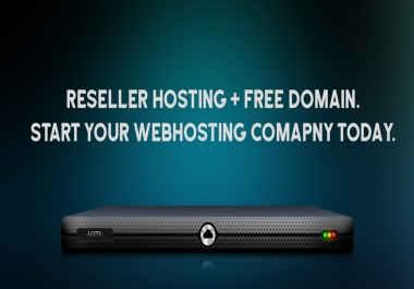 Start you own web hosting company and resell hosting services