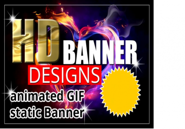Design HD Static Banner Ads And Gif For Online Site