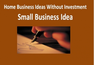 I can provide over 130 business ideas you can start from home with no or little cash