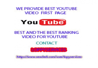 POWERFUL 1ST PAGE YOUTUBE VIDEO RANKING WITH FULL SEO PACKAGE FOR YOUR WEBSITE GUARANTEE