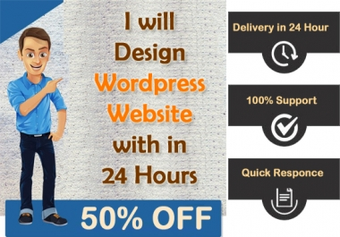 I Design Wordpress Responsive Website In 24 Hour