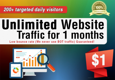 Daily 200+ Website Traffic For 1 Months