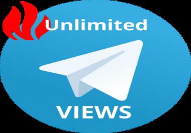 400 telegram view for 1 week unlimited post