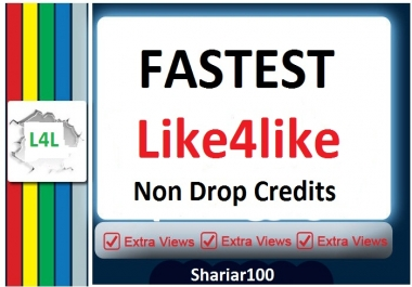 10000 Credits L4L Account Give you super fast within 2-7 Hours delivery
