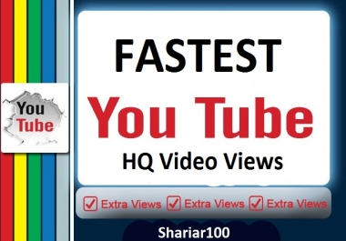1000 Video Promotion pakeage Non drop Give super fast Delivery