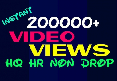 Provide 200000+ HQ, HR, Non Drop Video Promotion Instantly