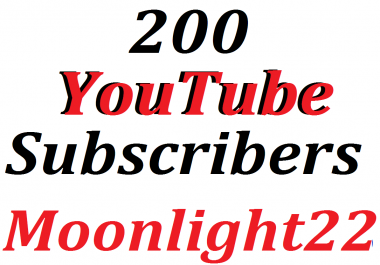 200 Manually channels subscribers  lifetime guaranteed Refill